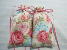 "Rose 5""X2"" Sachets-'Gold Rose' Fragrance-Pink and Blue Floral Sachet-220"