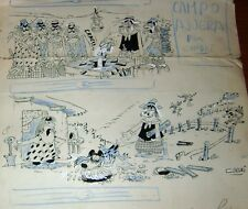 CUNDRI ORIGINAL ART SKETCH PAGE SIGNED GAUCHOS RICO TIPO ED DIVITO ARGENTINA 70s