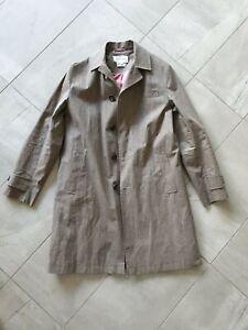 Oliver Spencer Made in England Linen trench coat Jacket M tan brown beige mac 38