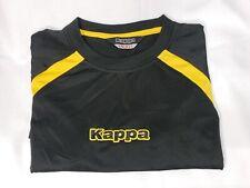 Kappa Logo T Shirt Tee Black & Yellow size Small
