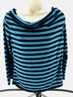 Joseph A Women's Long Sleeve Striped Blouse Size-L