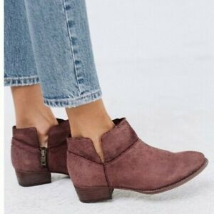 Anthropologies Seychelles Women's Snake Ankle Bootie Burgundy Red Size 6