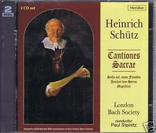 SCHUTZ 2 CDS SET NEW CANTIONES SACRAE LONDON BACH SOCIETY/ PAUL STEINITZ