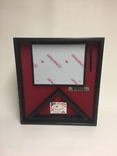 US Flag and Certificate Display Case BLACK, 3x5 Flag (MADE IN WISCONSIN)
