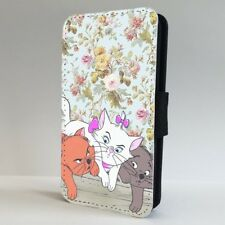 Aristocats Cats Disney Floral FLIP PHONE CASE COVER for IPHONE SAMSUNG
