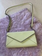 Rebecca Minkoff crossbody bag Neon Green Envelope Clutch Magnetic Snap Closure