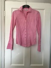 T.M. Lewin Size 6 Pink Stripe Fully Fitted Shirt.  (N14)
