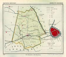 ANTIQUE MAP-NETHERLANDS-HOOGKERK-GRONINGEN-KUYPER-1865