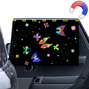 Design butterfly Car Side Window Sunshade StrongMagnet Curtain for Baby children
