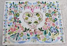 """CLAIRE MURRAY FLOWER HEART RECT. WOOL HOOKED RUG 33"""" X 43"""""""