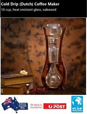 Cold Drip Coffee Maker Oakwood 10 Cup Heat Resistant Glass BD10