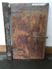 Small Boilier Room Fire Door w/ Hinges Rust Great Patina Cool Hinges