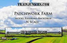 "Train Junkies N Scale ""Patchwork Farms""  Backdrop 80""x12"" C-10 Mint-Brand New"