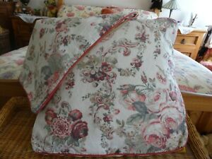"""2 X Large Laura Ashley Floral Cushion Covers Approx 20"""" Wide x 22 deep"""