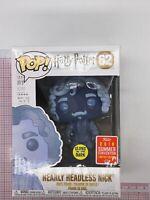 Funko POP Harry Potter Nearly headless Nick Glow GITD Summer Convention #62 H01