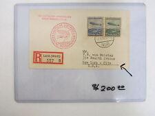 LUFTSCHIFF HINDENBURG 2 MAY 1936 1ST FLIGHT LORCH TO WURTTEMBURG TO N.Y. CACHET