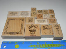 Stampin Up Quilts Give Comfort Stamp Set of 17 Snowman Friends are like Quilts