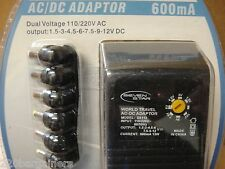 AC to DC Power Adapter 1.5V To 12V Variable 110V 220V Universal