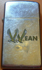 1964 or 1965 2 COLOR ZIPPO ADVERTISING LIGHTER WEAN