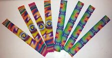 Lot of 864 Pieces - Retro Pyscadelic Bright Color Slap Bracelets + FREE SHIPPING