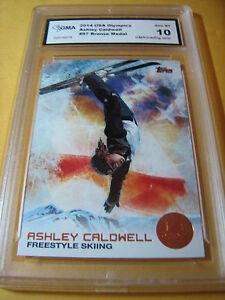 ASHLEY CALDWELL FREESTYLE SKIING 2014 TOPPS US OLYMPICS BRONZE # 97 GRADED 10