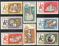 Hungary 1958 EXPO/Exhibition/Buildings/Architecture/Statue/Commerce 8v (n37359)