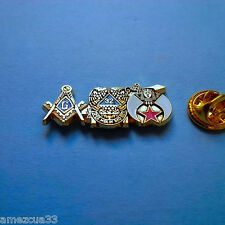 Large 3 in one Master 32nd Degree Shriners Lapel Pin