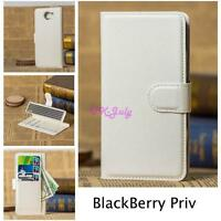 Luxury Magnetic Flip Cover Stand Wallet Leather Case Skin For BlackBerry Phone