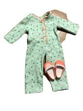 American Girl Kit One-Piece Puppy Print Pajamas EUC Complete RETIRED