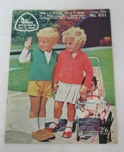 Vintage Paton's Knitting Book #651 for 2 - 8 years