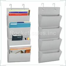 4 Pocket Wall Mount Hanging File Document Organizer Folder Holder Over Door Rack