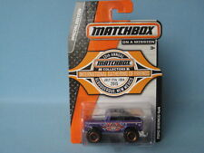 Matchbox Ford Bronco 4x4 MC Gathering Dealer Model 2015 USA Purple 65mm