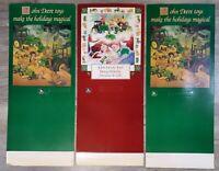 Vintage John Deere Toys Christmas Advertising Sign Lot of 3 Standing Cardboard