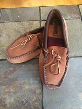 Woolrich Moccasin Slippers~Men's XS~7-8~Brown Suede Leather~