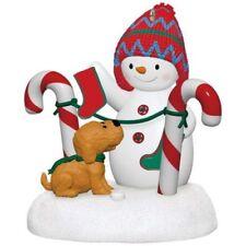 Presale Stockings Hung With Care 2017 Hallmark Magic Ornament Snowman Puppy NIB