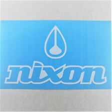 Nixon Vinyl Decal Die Cut 3x5in White Watch Logo Window Sticker