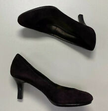 Connie Womens Claudia Brown Suede Basic Classic Pump Heels Sz 7.5 M