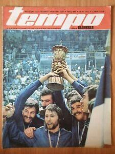sport magazine TEMPO 486 basketball European championship Yugoslavia 1975 PEK 75
