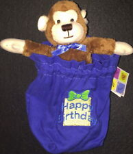 "Herrington Teddy 2009 PETIT FOURS P4 ""HAPPY BIRTHDAY"" MONKEY Plush in GIFT BAG!"