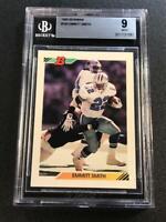 EMMITT SMITH 1992 BOWMAN #100 BASE CARD BGS 9 COWBOYS NFL HALL OF FAMER