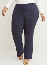 Lane Bryant Curvy Allie Sexy Stretch No-Gap Boot Pants NAVY BLUE Sz 22 R