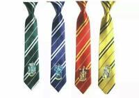 HARRY POTTER HOUSE TIES Gryffindor Slytherin Hufflepuff Ravenclaw Hogwarts LOGO!