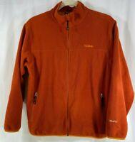 LL Bean Polartec Fleece Mens Full Zip L/Sleeve Rust Jacket Sweater L