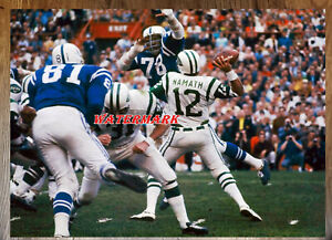 NFL New Yorks Jets QB Joe Namath in the Pocket  Color 8 X 10 Photo Picture