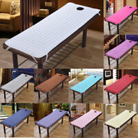 Beauty Spa Massage Table Bed Cover Sheet Mattress Pads With Face Breath Hole