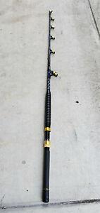 "BIG GAME 5'6"", 100 lb Deep Drop Roller Guides Saltwater Trolling Fishing Rod"