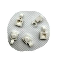 5x Lego Part 61252 White 1x1 Plate with Horizontal Open C Shaped Clip Genuine