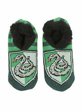 Harry Potter Slytherin House Crest Cozy Fluffy Slippers Socks Anti Slip Soles