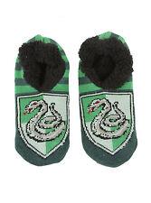 Harry Potter Slytherin House Crest Cozy Fluffy Slippers Socks Anti Slip Soles