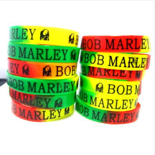 24 x Bob Marley RASTA Jamaica Reggae silicone wristbands bracelets